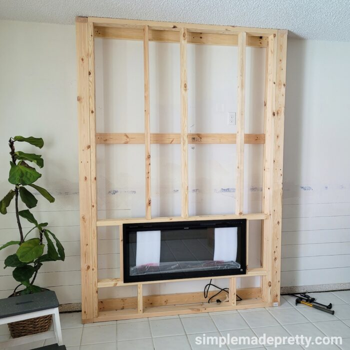 How to build a fireplace wall