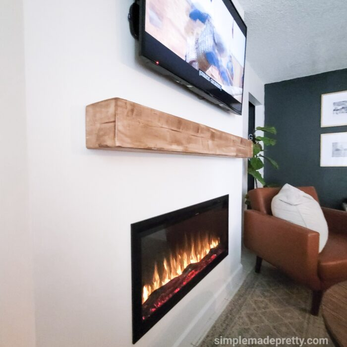 how to build an electric fireplace wall