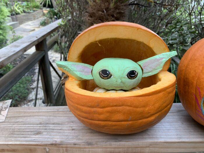 Baby yoda Halloween Pumpkin Carving Ideas