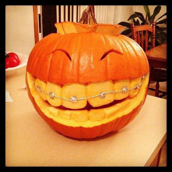 Big Teeth Braces Halloween Pumpkin Carving Ideas