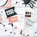 DIY Halloween Boo Basket Flags