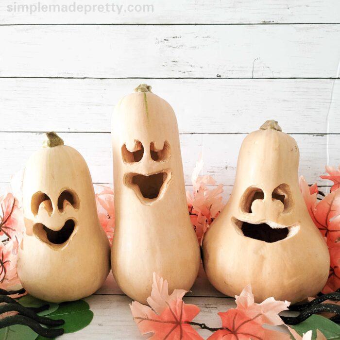 Butternut Squash Halloween Pumpkin Carving Ideas