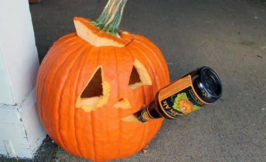 Halloween Pumpkin Carving Beer