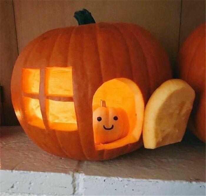 Halloween Pumpkin Carving Ideas little house