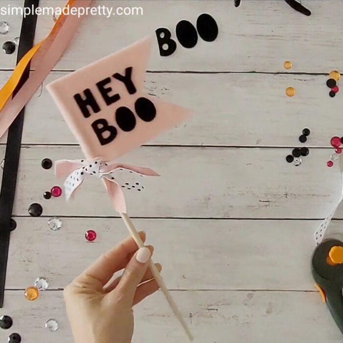 Hey Boo Basket Flag DIY