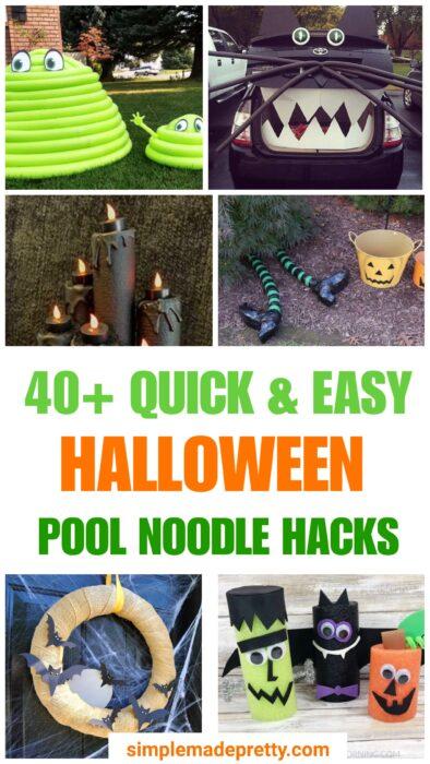 Pool Noddle Ideas for Halloween