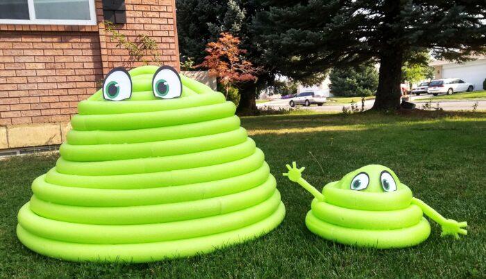 Pool Noodle Halloween Hacks blobby