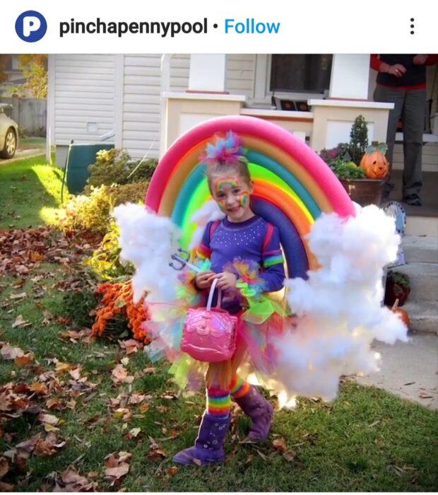 Pool Noodle Halloween Hacks rainbow cloud
