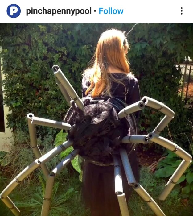 Pool Noodle Halloween Hacks scary spider