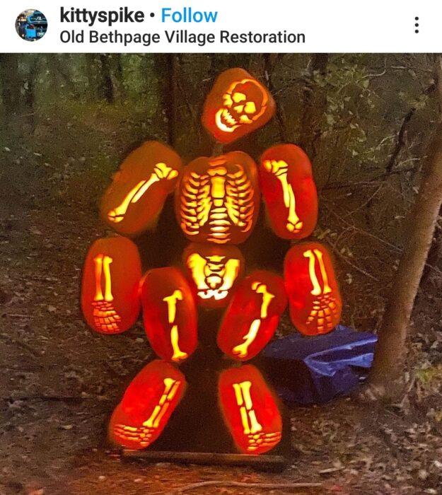 Skeleton Halloween Pumpkin Carving Ideas
