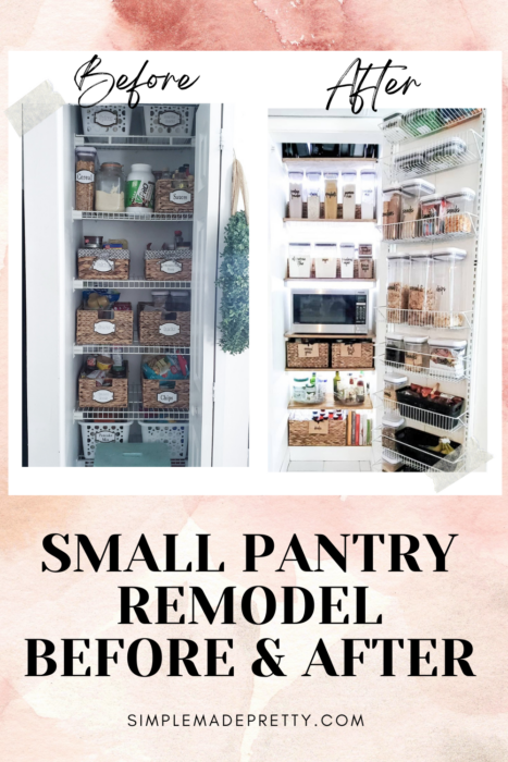 Small Pantry Remodel Before and After Pictures