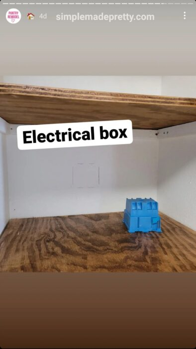 Small Pantry Remodel with electrical