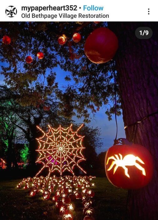 Spider spiderweb Halloween Pumpkin Carving Ideas