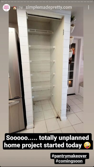 small pantry before and after